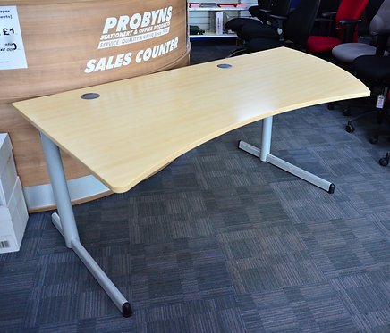 STEELCASE Right end curve 2000mm MAPLE desk