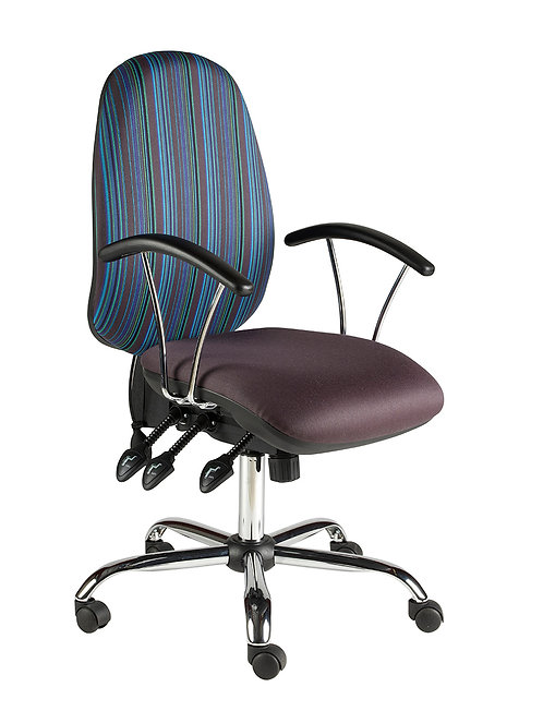 Large back task chair fixed arm