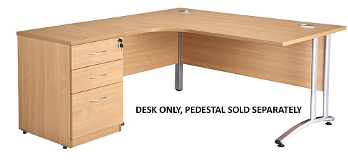 Endurance Left Hand 1800mm Radial Desk (WxDxH) 1800x1200/800/600x730mm