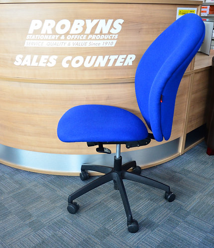Blue ergonomic operators chair