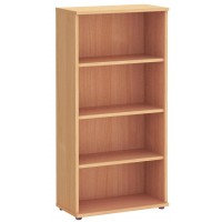 Fraction High Bookcase With 3 Shelves 1600mm Oak