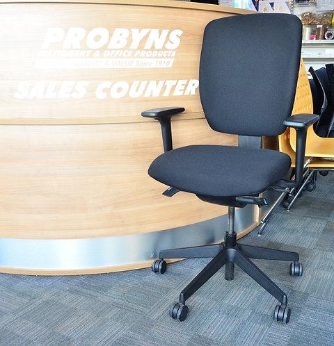SENATOR Black operators armchair re-upholstered
