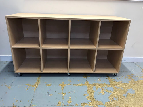 Pigeon hole type Beech Bookcase