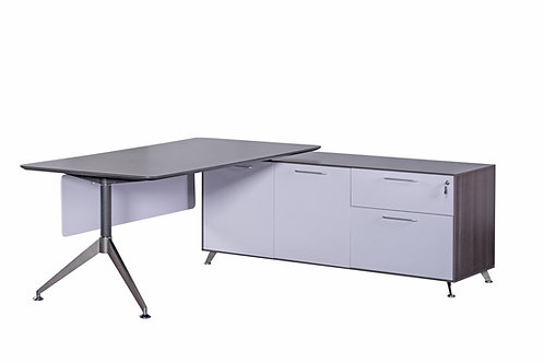Nero Executive Desk With Left Handed Return Anthracite (WxDxH) 2150x1850x750mm