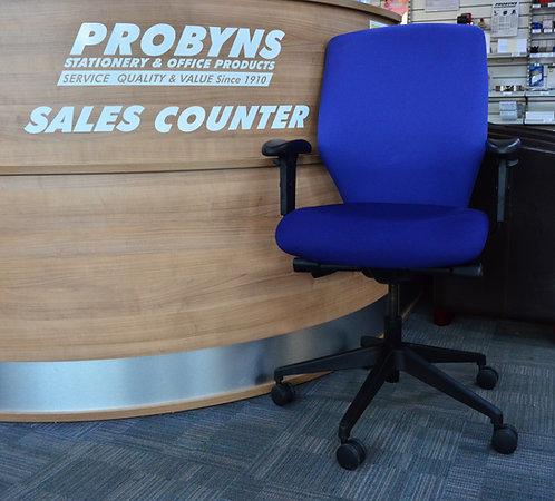 2 tone Blue quality operators armchair