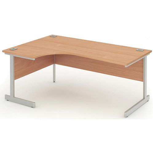 Fraction 1600mm Oak Left Hand Core Workstation