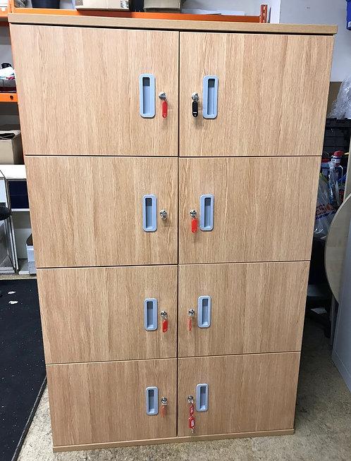 8 Door wooden Locker unit