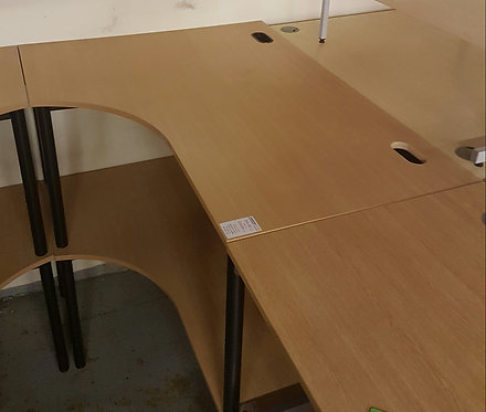 1600mm Beech Left Hand Workstation