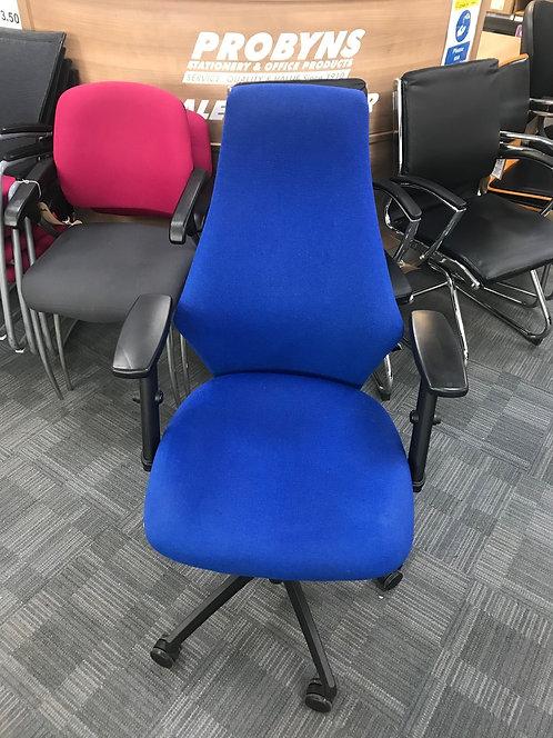 ALBANY Blue high back operator armchair