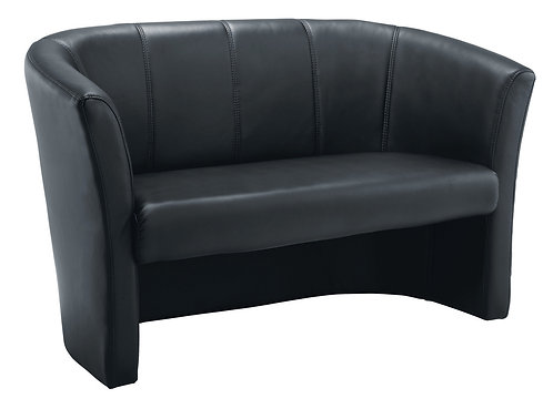 Encounter Sofa Tub Leather Seat Black