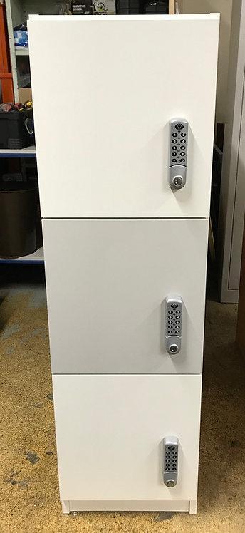 3 Door Locker unit with Lowe and Fletcher digital combination lock