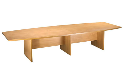 Boat Shaped Meeting Table (WxDxH) 4000x1200x730mm