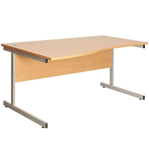 Fraction 1400mm Oak Left Hand Wave Workstation