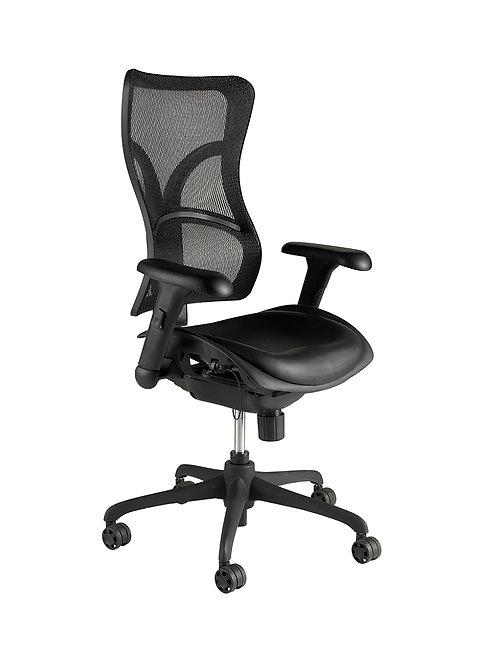 High back shaped mesh chair