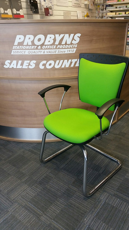 Green High Back Visitors Armchair