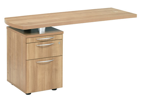 E Space Executive Side Return with 2 Drawer Pedestal Cappuccino