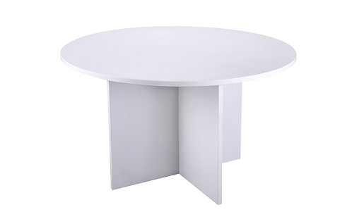 White 1200mm Diameter Meeting Room Table (DxH) 1200x730mm