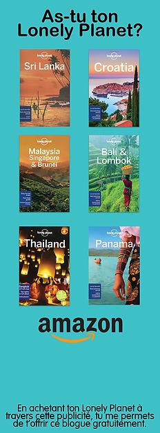 As-tu tout ce qu'il te faut pour partir en voyage? Et ton Lonely Planet? Amazon pourra t'aider à t'équiper avant le grand départ!
