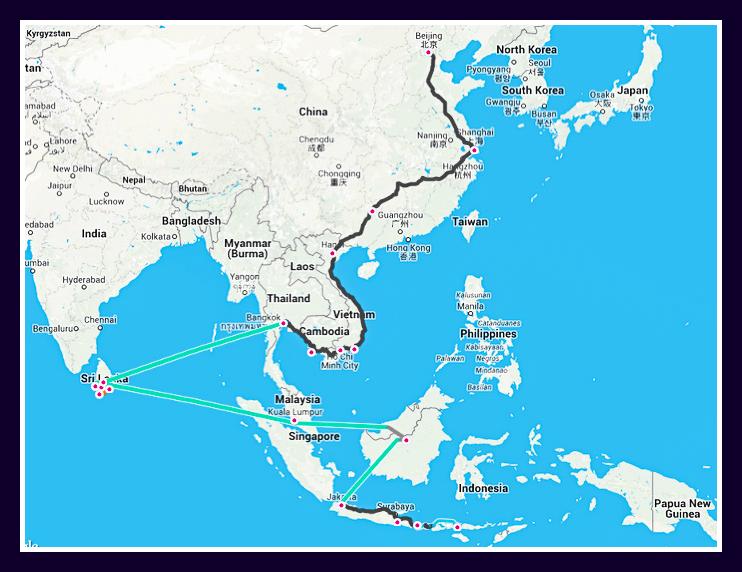 Mon itinéraire de 6 mois en Asie
