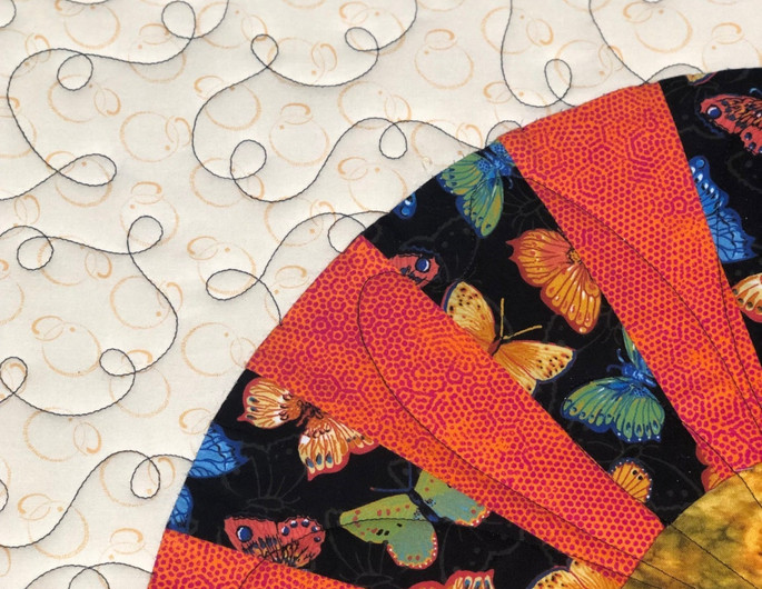 Meandering Quilted Pattern