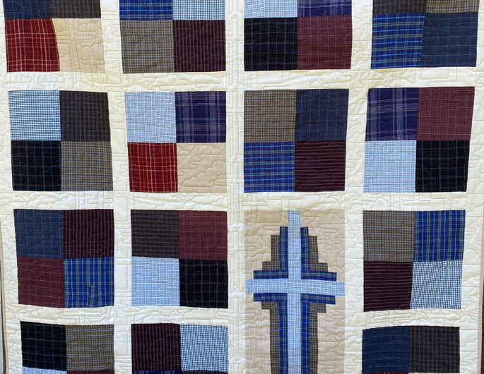 Memory Quilt created by Fork Mtn Quilting