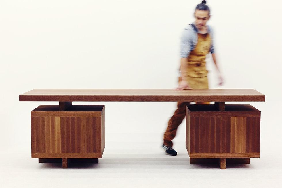 """04책상_BM, desk """"BM"""" 2385(W) × 810(D) × 750(H).jpg"""