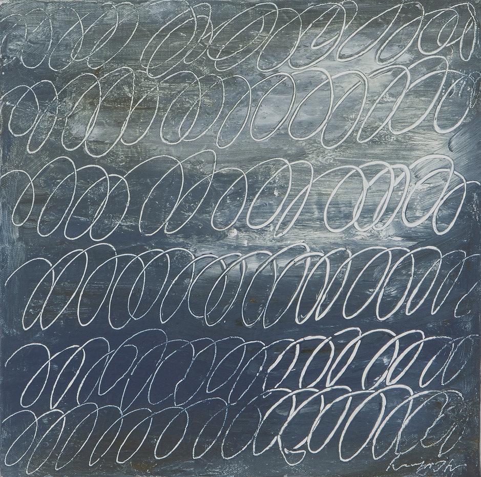 10.Wind,22x22cm, Mixed media on canvas,2
