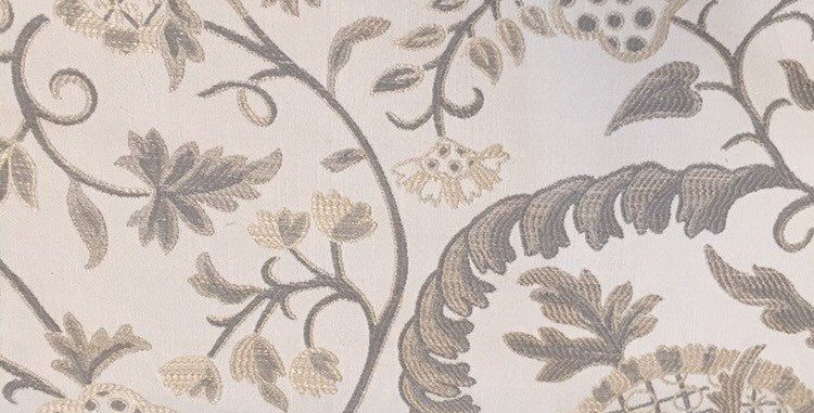 Cream and Gray High End Fabric