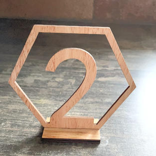 Hexagon Table Numbers 1 - 20  $10 set re