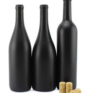Black Chalkboard Wine Bottles