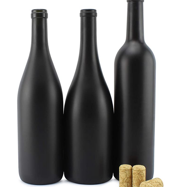 Black Chalkboard Wine Bottles