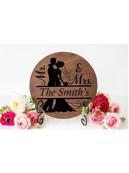 Mr. & Mrs.Personalized door hanger