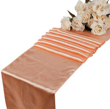 Peach table runner