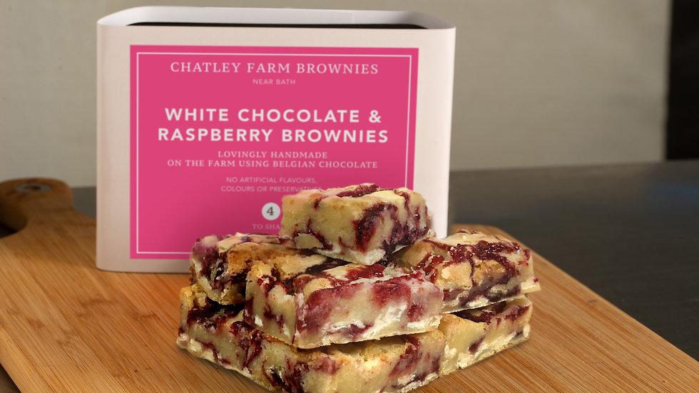 White Chocolate & Raspberry Blondie Brownie