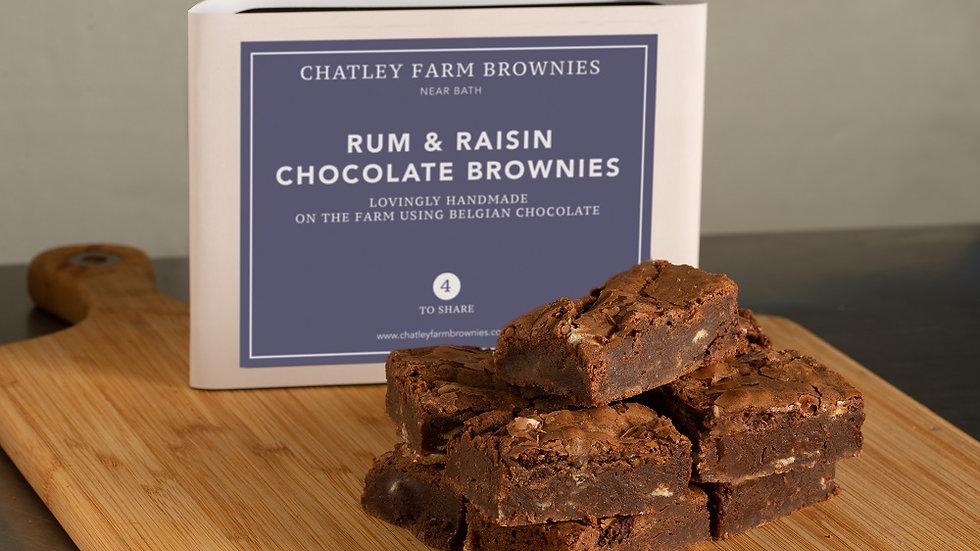 Rum & Raisin Chocolate Brownie