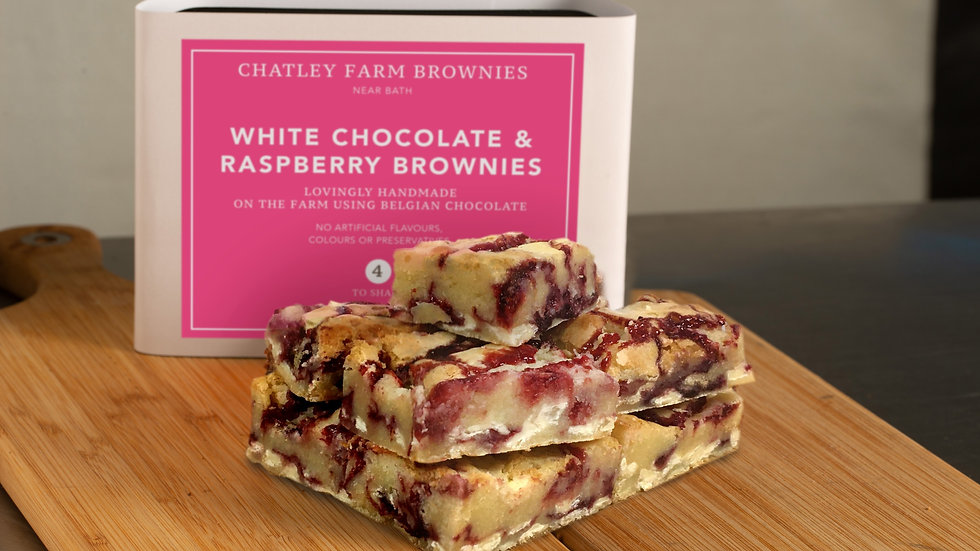 White Chocolate & Raspberry Blondie Brownie