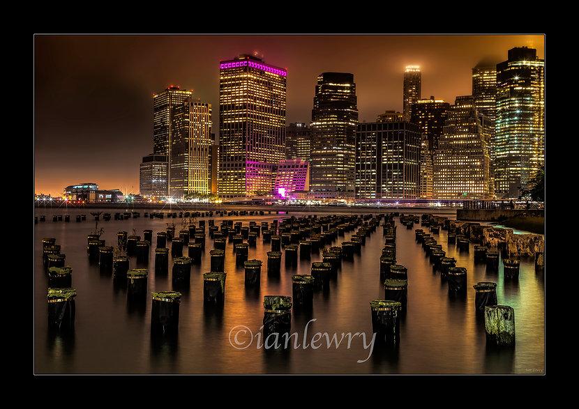 MANHATTAN AT NIGHT A2 PRINT 4446121QW37.