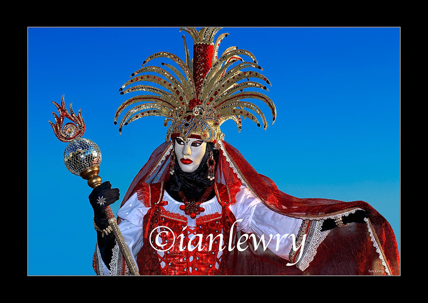 VENICE CARNIVAL RED QUEEN A3 PRINT 44890