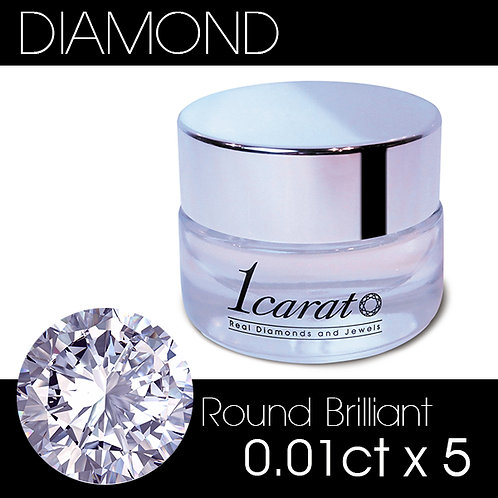 Round Brilliant 0.01ct《5石パック》