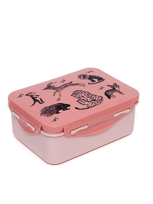 """Lunchbox Rose Animaux sauvages noirs """"Petit Monkey"""""""