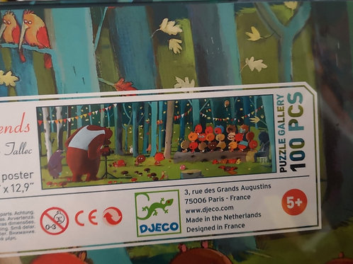 """Puzzle gallery - Forest friends 100pcs """"Djeco"""""""