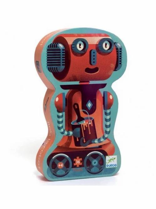 "Puzzle - Robot - 36 pcs ""Djeco"""