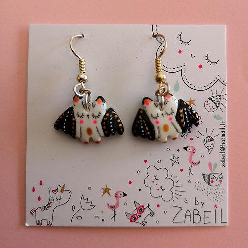 """Boucles d'oreilles """"Zabeil"""" Chauve Souris"""
