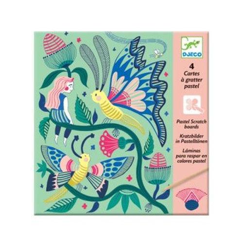 """Cartes à gratter Papillon """"Djeco"""""""