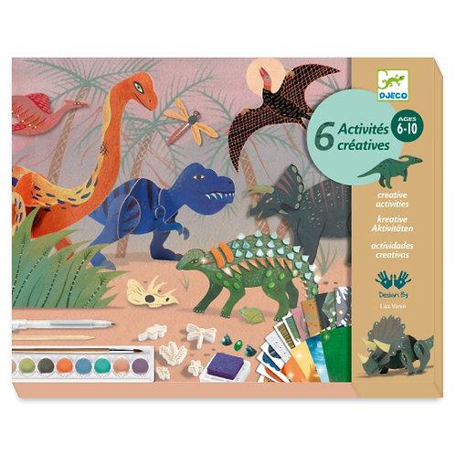 """Coffret multi activités - Le monde des dinosaures - """"Djeco"""""""
