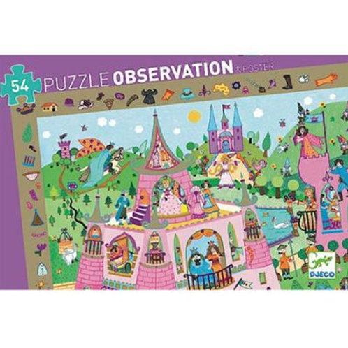 """Puzzle observation Princesse 54 pcs """"Djeco"""""""