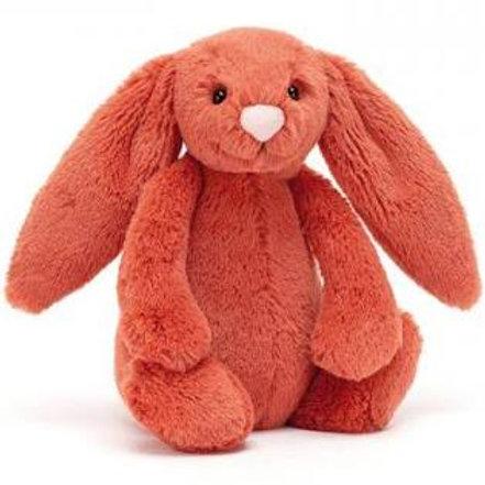 "Petit lapin rouge rouille 18 cms ""Jellycat"""
