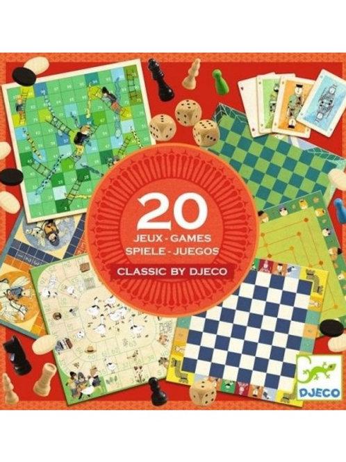"""Classic box boîte de 20 jeux """"Djeco"""""""