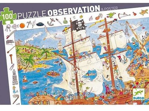 "Puzzle observation Pirates 100 pcs ""Djeco"""