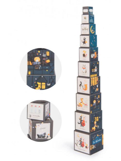 """Cubes à empiler - Les moustaches """"Moulin Roty"""""""